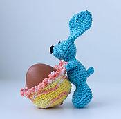 Для дома и интерьера ручной работы. Ярмарка Мастеров - ручная работа Вязаные подставки для яиц в виде зайчиков. Handmade.