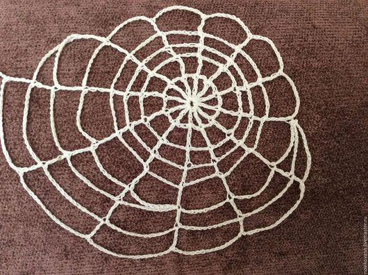 Текстиль, ковры ручной работы. Ярмарка Мастеров - ручная работа. Купить Паутина вязаная крючком. Handmade. Белый, декоративный элемент