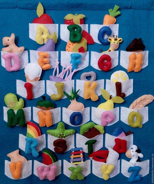 Развивающие игрушки ручной работы. Ярмарка Мастеров - ручная работа. Купить Алфавит из фетра Английский. Handmade. Комбинированный, моторика, развивайка