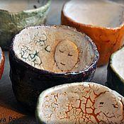 """Посуда ручной работы. Ярмарка Мастеров - ручная работа коллекция чашек """"чайные лица"""". Handmade."""