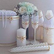 Наборы аксессуаров ручной работы. Ярмарка Мастеров - ручная работа Свадебный набор. Handmade.