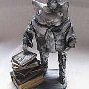 """Куклы и игрушки ручной работы. Ярмарка Мастеров - ручная работа кукла-сувенир """"Ученый кот"""". Handmade."""