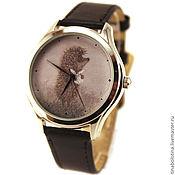Украшения ручной работы. Ярмарка Мастеров - ручная работа Дизайнерские наручные часы Ежик в тумане с котомочкой. Handmade.