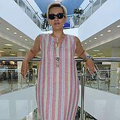 """Одежда ручной работы. Ярмарка Мастеров - ручная работа Летнее платье из льна с шёлком  """"Chemise """". Handmade."""