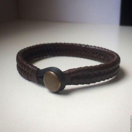 Браслет ручной работы, кожаный браслет, браслет, кожаный браслет женский, кожаный браслет мужской, тонкий кожаный браслет, коричневый браслет, браслет из кожи, тонкий браслет