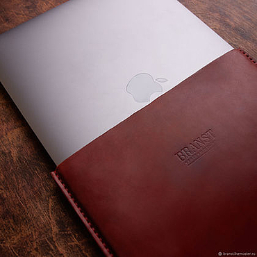 Bags and accessories handmade. Livemaster - original item Leather case for laptop Kuga. Handmade.