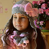 """Аксессуары ручной работы. Ярмарка Мастеров - ручная работа """"Верю в чудо"""" шапочка и ажурный шарфик. Handmade."""