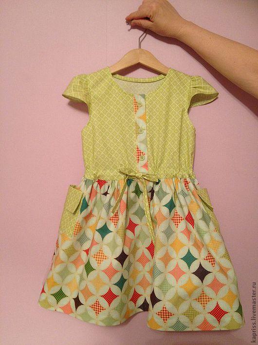"""Одежда для девочек, ручной работы. Ярмарка Мастеров - ручная работа. Купить Детское платье """"Мозаика"""". Handmade. Орнамент, подарок для девочки"""