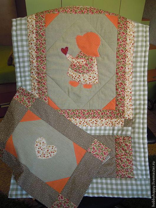 Пледы и одеяла ручной работы. Ярмарка Мастеров - ручная работа. Купить Лоскутное одеяло ( одеялко+наволочка). Handmade. Лоскутное одеяло