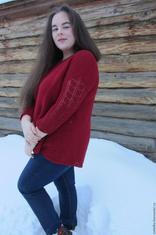 Кофты и свитера ручной работы. Ярмарка Мастеров - ручная работа. Купить Кашемировая кофта большого размера 54-58. Handmade.