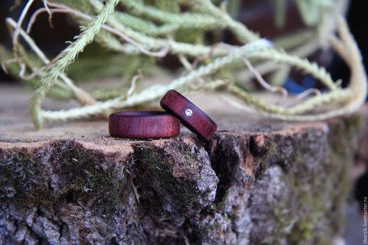 Кольца ручной работы. Ярмарка Мастеров - ручная работа. Купить деревянные кольца на свадьбу. Handmade. Подарок девушке, свадьба, дуб