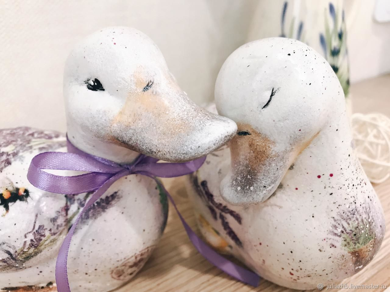 Lavender fields, ceramic pair, Figurines, Sergiev Posad,  Фото №1