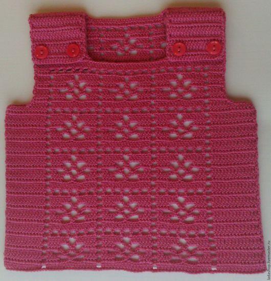 Для новорожденных, ручной работы. Ярмарка Мастеров - ручная работа. Купить Безрукавка для самых маленьких (6). Handmade. Одежда для новорожденных