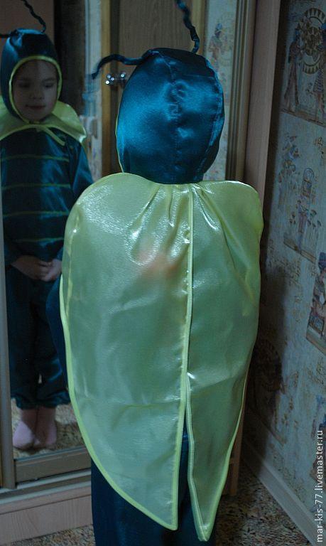Детские карнавальные костюмы ручной работы. Ярмарка Мастеров - ручная работа. Купить Светлячок. Handmade. Однотонный, Новый Год, насекомые