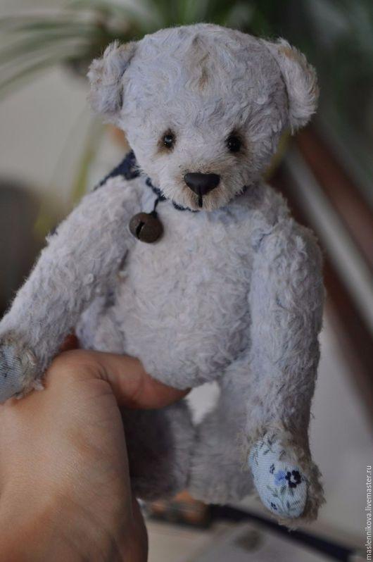 Мишки Тедди ручной работы. Ярмарка Мастеров - ручная работа. Купить Медведь Мишель (17см). Handmade. Голубой