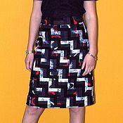 Одежда ручной работы. Ярмарка Мастеров - ручная работа Casual юбка в стиле пэчворк. Handmade.