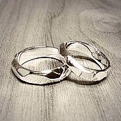 Свадебный салон ручной работы. Ярмарка Мастеров - ручная работа Грани любви — Обручальные кольца из серебра. Handmade.