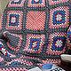 Текстиль, ковры ручной работы. Плед розовый и абстрактный. Nova ReDesign. Интернет-магазин Ярмарка Мастеров. Розовый, хлопковая пряжа