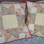 Для дома и интерьера handmade. Livemaster - original item a collection of patchwork pillows tenderness. Handmade.
