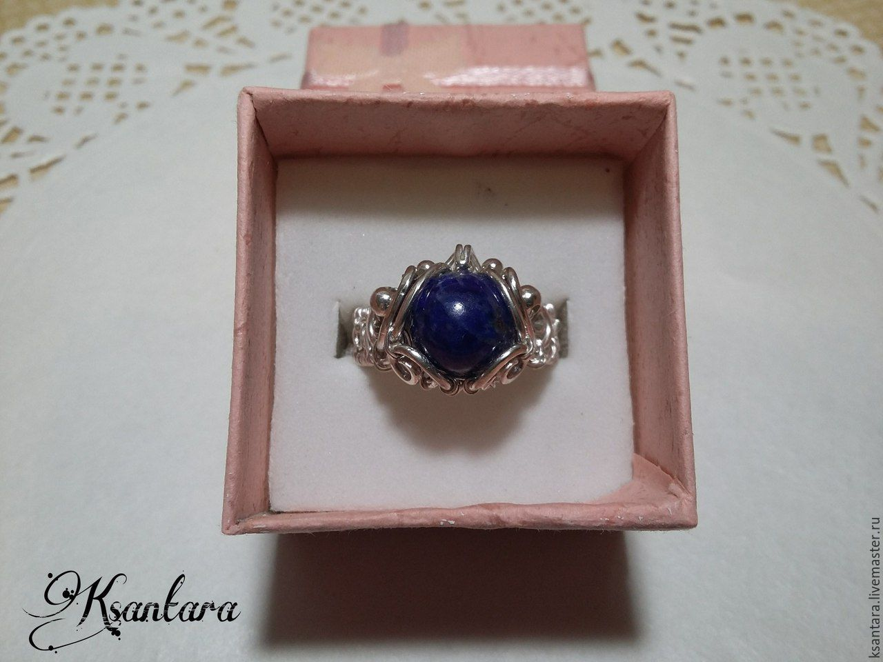 Ring with lapis lazuli – shop online on Livemaster with shipping ...