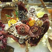 """Украшения ручной работы. Ярмарка Мастеров - ручная работа Брошь """"Осеннее утро"""" с яшмой и сердоликом. Handmade."""