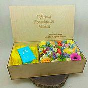 Упаковочная коробка ручной работы. Ярмарка Мастеров - ручная работа Подарочные коробки: Ящик для подарков. Handmade.