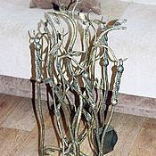Для дома и интерьера ручной работы. Ярмарка Мастеров - ручная работа Каминный набор кованый. Handmade.