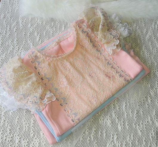 Для новорожденных, ручной работы. Ярмарка Мастеров - ручная работа. Купить одежда для фотосессии  новорожденных. Handmade. Бледно-розовый