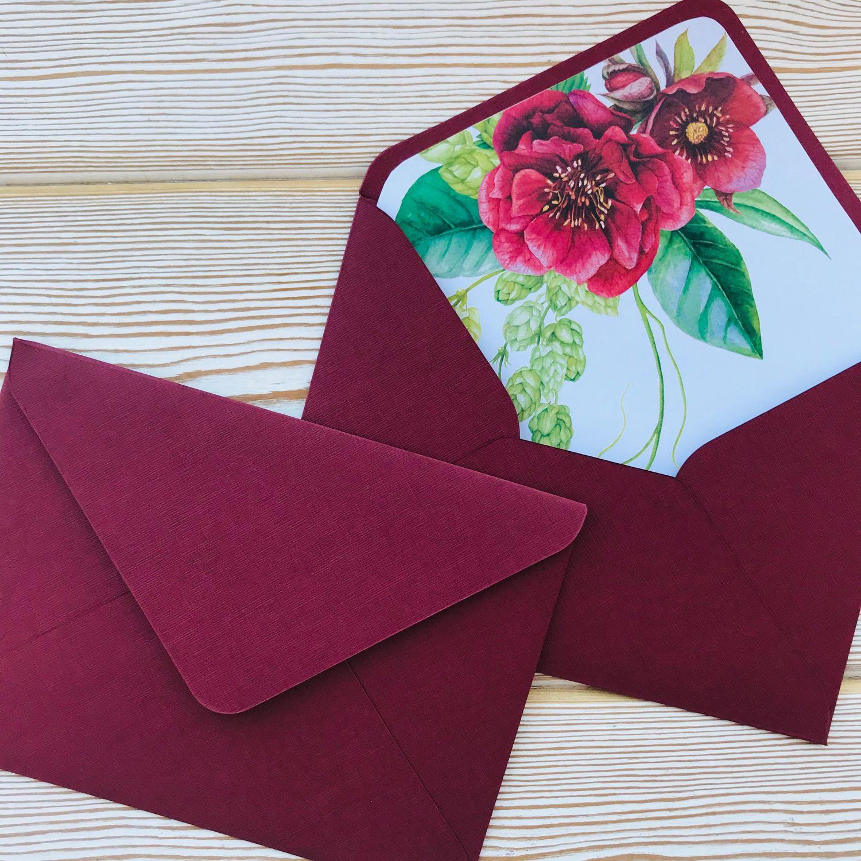 Конверт из бумаги, конверт для открыток а6 для фото 10х15 см, Бумага, Ростов-на-Дону,  Фото №1