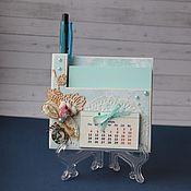 Подарки к праздникам ручной работы. Ярмарка Мастеров - ручная работа Магнит органайзер-календарь на холодильник. Handmade.