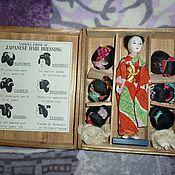 Винтаж ручной работы. Ярмарка Мастеров - ручная работа Японская кукла Хонако 30-40 е года прошлого века,коробка,парики. Handmade.