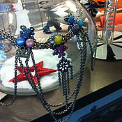 Vintage necklace handmade. Livemaster - original item Author Rodriguez Otazu belt, handmade ( Argentina). Handmade.
