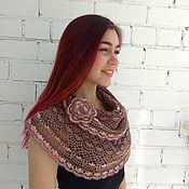 Аксессуары handmade. Livemaster - original item Scarf Snood design made of cotton ( terracotta). Handmade.