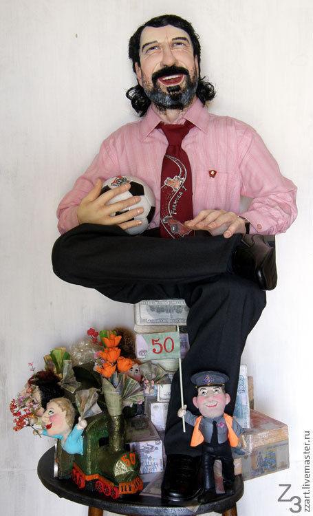 Портретные куклы ручной работы. Ярмарка Мастеров - ручная работа. Купить портрет. Handmade. Портрет на заказ, портретная скульптура