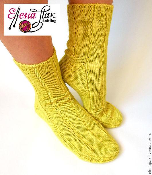 Женские шерстяные носки на 37/38 размер. Ручная работа. Магазин мастера Елена Пак.