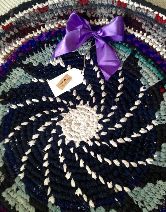 """Текстиль, ковры ручной работы. Ярмарка Мастеров - ручная работа. Купить """"Прованс"""" коврик для интерьера. Handmade. Тёмно-синий"""