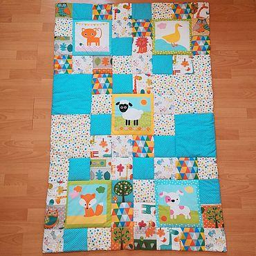 Текстиль ручной работы. Ярмарка Мастеров - ручная работа Детское одеялко 1 м х 1,5 м. Handmade.
