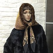 Аксессуары handmade. Livemaster - original item Double-sided scarf with fringes of mink. Handmade.