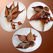 """Украшения ручной работы. Ярмарка Мастеров - ручная работа Броши """"Осенние листики"""". Handmade."""