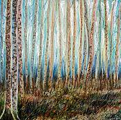 Картины и панно ручной работы. Ярмарка Мастеров - ручная работа Осенний лес. Handmade.
