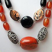 Украшения handmade. Livemaster - original item Set of natural stones ethnic design Zambia. Handmade.