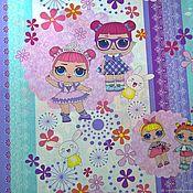 """Ткани ручной работы. Ярмарка Мастеров - ручная работа Детская ткань бязь для шитья и творчества хлопок 100% """"Лола"""". Handmade."""