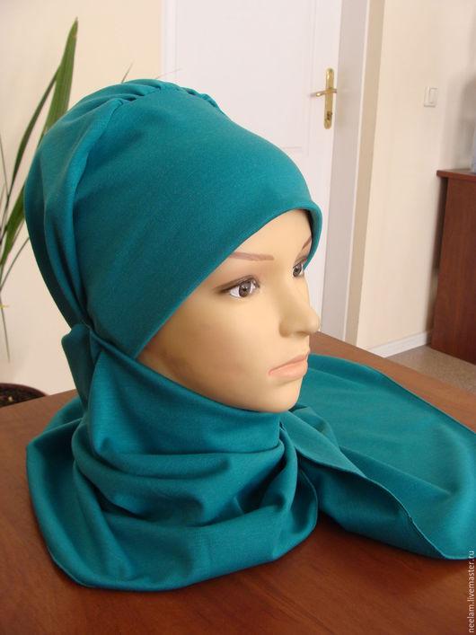 Этническая одежда ручной работы. Ярмарка Мастеров - ручная работа. Купить Стильный теплый головной убор в восточном стиле - бирюзовый. Handmade.