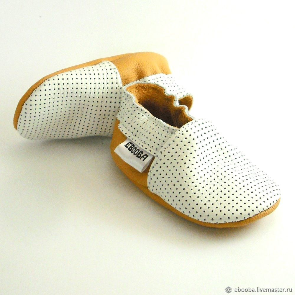 a936eff65 White soft sole leather Baby shoes,Infant handmade white yellow shoes