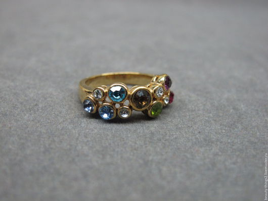 Винтажные украшения. Ярмарка Мастеров - ручная работа. Купить Яркое кольцо. Handmade. Серебряный, винтаж, бижутерный сплав