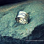 """Украшения ручной работы. Ярмарка Мастеров - ручная работа Кольцо """"Лесное"""" из нейзильбера (кольцо женское обручальное широкое). Handmade."""