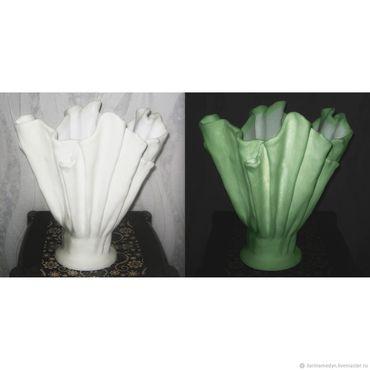 Для дома и интерьера ручной работы. Ярмарка Мастеров - ручная работа Ваза -кашпо светящаяяся, люминесцентное покрытие. Handmade.