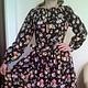 """Платья ручной работы. Ярмарка Мастеров - ручная работа. Купить Платье """"Ночная прохлада"""". Handmade. Платье, разноцветный, цветочный"""