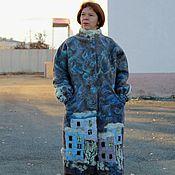 """Одежда ручной работы. Ярмарка Мастеров - ручная работа Валяное пальто """"Большой город"""" с верблюжьей шерстью. Handmade."""