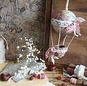 Для дома и интерьера ручной работы. Ярмарка Мастеров - ручная работа Розовые сны... Елочная игрушка. Игольница. Воздушный шар. Подвес.. Handmade.
